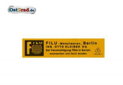 Aufkleber für Luftfilter Filu passend für AWO RT125 SR2