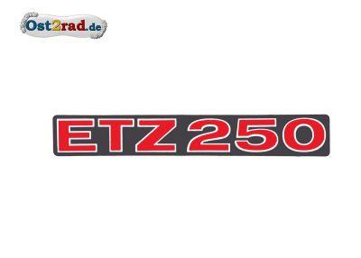 Aufkleber passend für MZ ETZ250 rot matt, quer