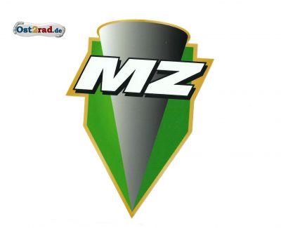 Aufkleber MZ Logo grün - 90x123mm