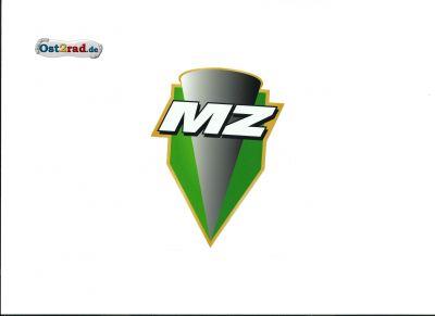 Aufkleber MZ Logo grün - 46x60mm