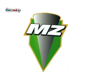 Aufkleber MZ Logo grün - 65x89mm
