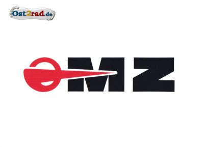 Aufkleber passend für MZ Logo WEISS- 130x40