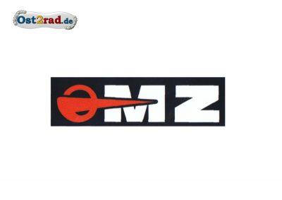 Aufkleber passend für MZ Logo weiß schwarz rot - 55x16