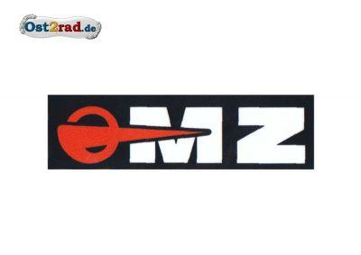 Aufkleber passend für MZ Logo weiß schwarz rot - 73x22