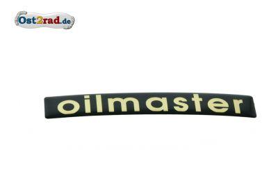 Aufkleber oilmaster 3D Seitendeckel Jawa California