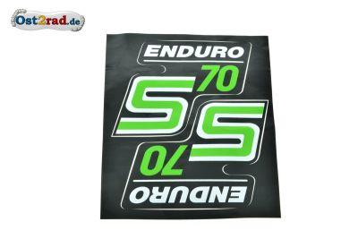 Aufkleber PAAR Seitendeckel S70 Enduro hellgrün