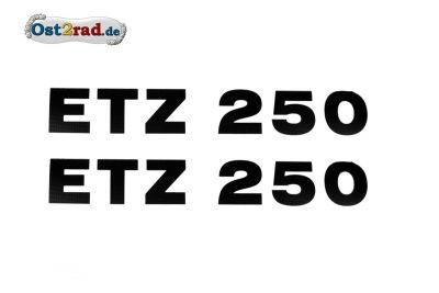 Aufkleber ETZ250 schwarz Seitendeckel Paar