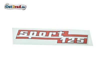 Aufkleber Seitendeckel CZ Sport 125 Typ 476
