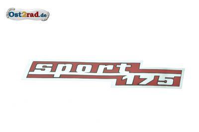 Aufkleber Seitendeckel CZ Sport 175 Typ 477
