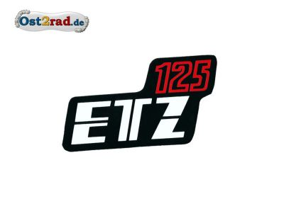 Sticker for page lid black / red ETZ 125