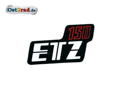 Sticker for page lid black/red ETZ 150