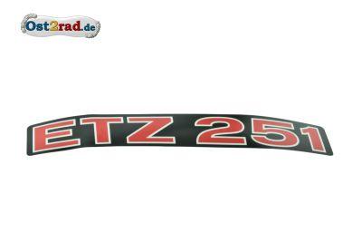 Aufkleber für Seitendeckel ETZ251 waagerecht