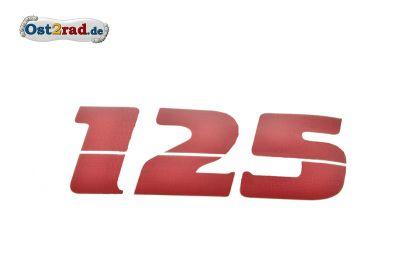 Aufkleber Seitendeckel passend für MZ ETZ 125 rot