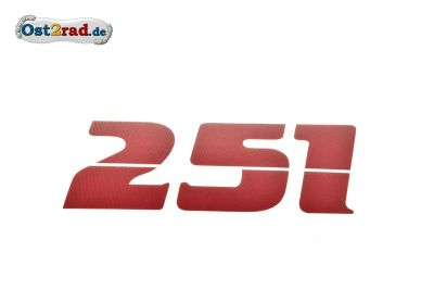 Adhésif MZ ETZ 251 rouge