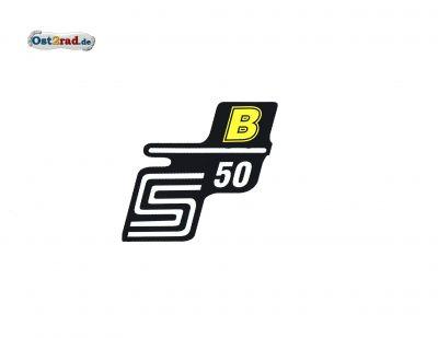 Aufkleber für Seitendeckel S50 B gelb