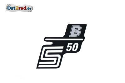 Aufkleber für Seitendeckel S50 B silber