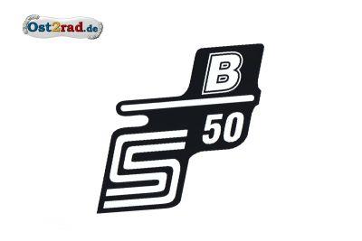 Aufkleber für Seitendeckel S50 B weiß
