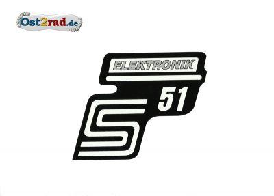 Aufkleber für Seitendeckel S51