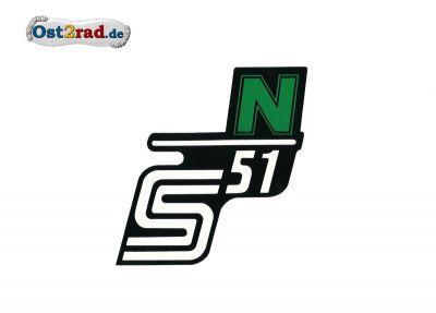 Aufkleber für Seitendeckel S51 N in grün