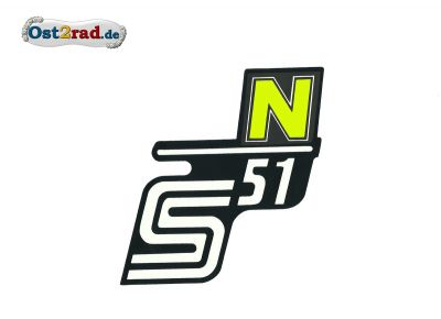 Aufkleber für Seitendeckel S51 N in neongelb