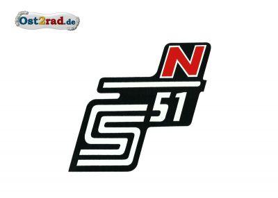 Aufkleber für Seitendeckel S51 N in rot