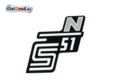 Aufkleber für Seitendeckel S51 N in silber