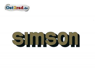 Aufkleber SIMSON für den Tank in gold
