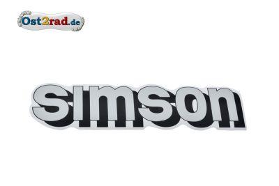 Aufkleber SIMSON für den Tank silber/schwarz/weiß