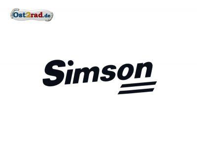 Aufkleber Tankverkleidung SIMSON SR50 SR80 schwarz