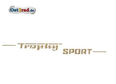 Aufkleber Trophy Sport gold Seitendeckel passend für MZ ETS 250