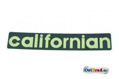 Aufkleber californian Seitendeckel Jawa California