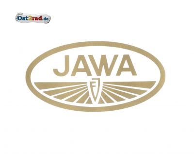 Adhésif logo ovale JAWA or