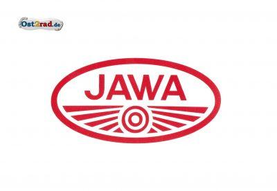 Adhésif logo ovale JAWA rouge et blanc