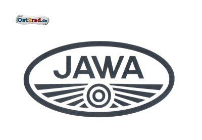 Aufkleber Jawa Logo oval schwarz groß