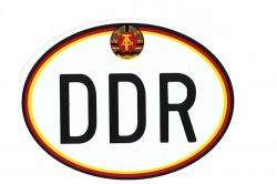 Aufkleber oval DDR mit Wappen