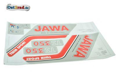 Aufklebersatz Jawa TS350 Typ 638 639