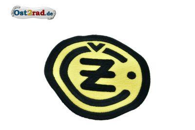 Aufnäher CZ Logo rund schwarz gelb - 13cm