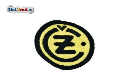 Aufnäher CZ Logo rund schwarz gelb - 8cm
