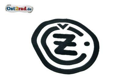 Aufnäher CZ Logo rund schwarz weiss - 13cm