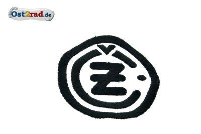 Aufnäher CZ Logo rund schwarz weiss - 8cm