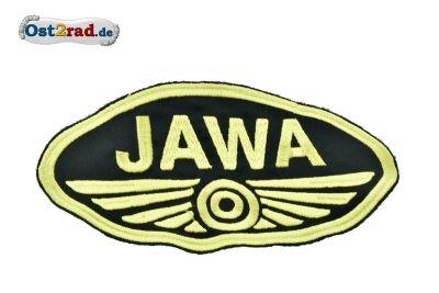 Patch Oval Jawa logo small black / gold
