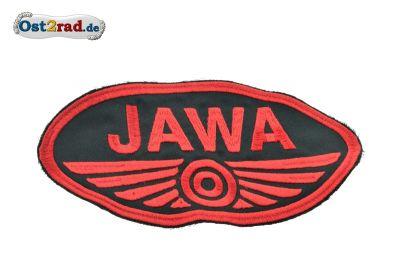 Patch Oval Jawa logo large black / red