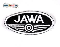 Aufnäher Jawa Logo oval klein schwarz/weiß