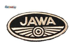 Patch Oval Jawa logo small black / brown