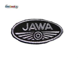 Patch Oval Jawa logo small black / gray