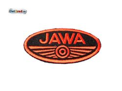 Patch Oval Jawa logo small black / red