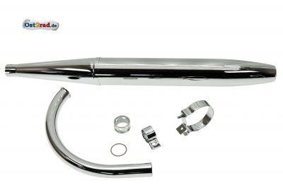 Auspuffsatz passend für MZ ES 125, 150 80cm Zigarre