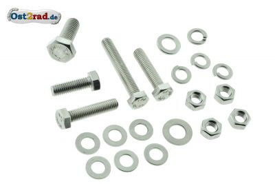 Exhaust bolts, set MZ, stainless steel