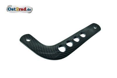 Haltestrebe für Auspuff S51 S70 Enduro Alu carbon