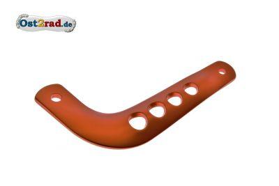 Haltestrebe für Auspuff S51 S70 Enduro Alu orange